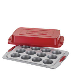 Cake Boss 12-Cup Covered Muffin Pan