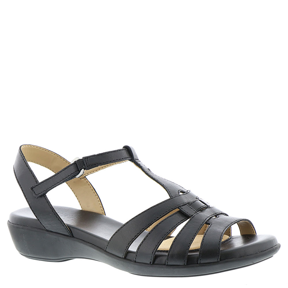 1950s Style Shoes Naturalizer Nanci Womens Black Sandal 12 W2 $78.95 AT vintagedancer.com