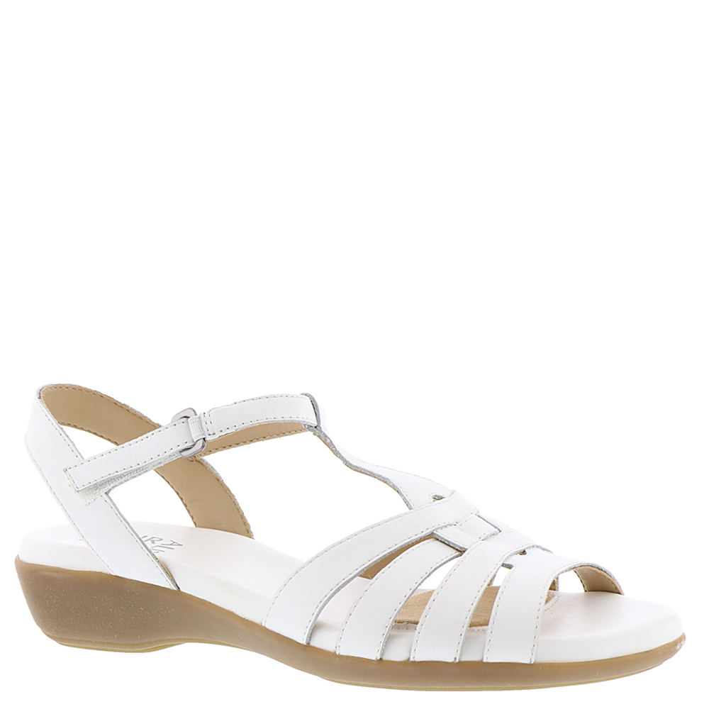 1950s Style Shoes Naturalizer Nanci Womens White Sandal 12 W2 $78.95 AT vintagedancer.com