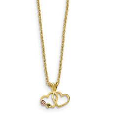 Women's 10K Black Hills Gold Double Heart Necklace