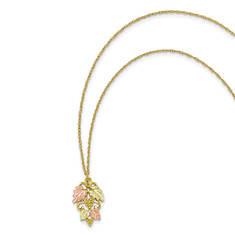 Women's 10K Black Hills Gold Leaf Pendant Necklace