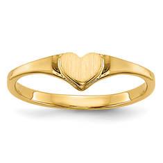Kids' 14K Heart Ring