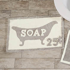 Typography Cotton Bath Mats