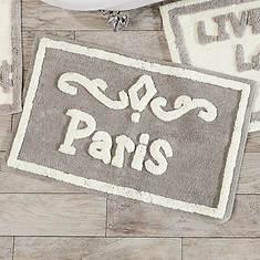 Typography Cotton Bath Mats