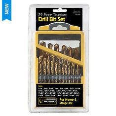 Pro-Series 29-Piece Titanium Drill Bit Set