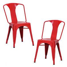 AmeriHome 2-Piece Loft Metal Dining Chair