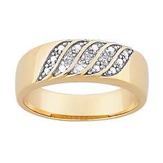 14K Over Sterling Silver Diamond Ring
