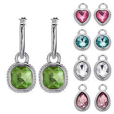 Women's 5-Piece Crystal Hoop Collection