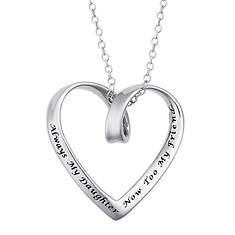 Women's Sterling Silver My Daughter Friend Heart Pendant