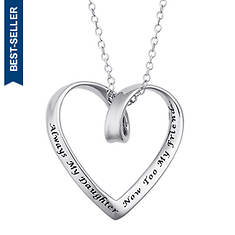 Women's Sterling Silver My Daughter Friend Heart Pendant