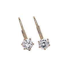 Women's 1 CT TW CZ Stud Earrings