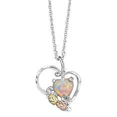 Landstroms Black Hills Gold Opal Heart Necklace