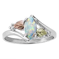 Landstroms Black Hills Gold Women's Opal Marquise Ring