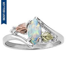 Landstroms Women's Black Hills Gold Opal Marquise Ring