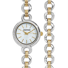 Armitron Women's Two-Toned Watch/Bracelet Set