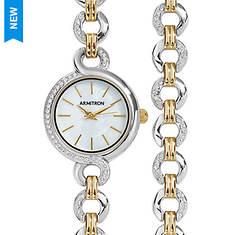 Armitron Women's Two-Toned Watch/Bracelet Set