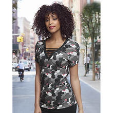 Camo Ladder-Neck Tee