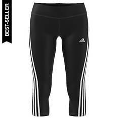 adidas Women's D2M RR 3-Stripe 3/4 Capri