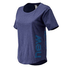 New Balance Women's Graphic Heathertech Tee