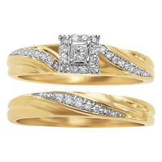 Women's Princess Twist Diamond Bridal Set