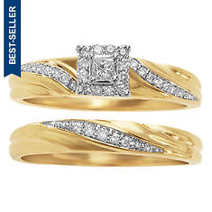 Women's Princess Twist Diamond Bridal Set