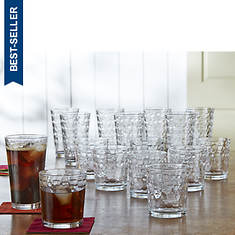 Gibson Squares 16-Piece Glassware Set