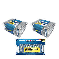 Rayovac 44-Pack D and AA Battery Bundle