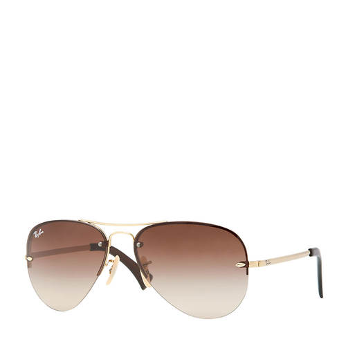 Ray-Ban Rimless Aviator Gold Sunglasses