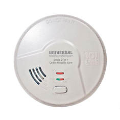 Universal Security 3-in-1 Detector - Smoke, Fire, CO