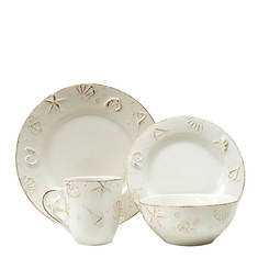 Thomson Pottery Seashells 16-Piece  Dinnerware Set