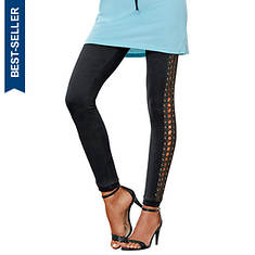 Side-Laced Knit Leggings