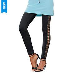 Side-Laced Knit Leggings