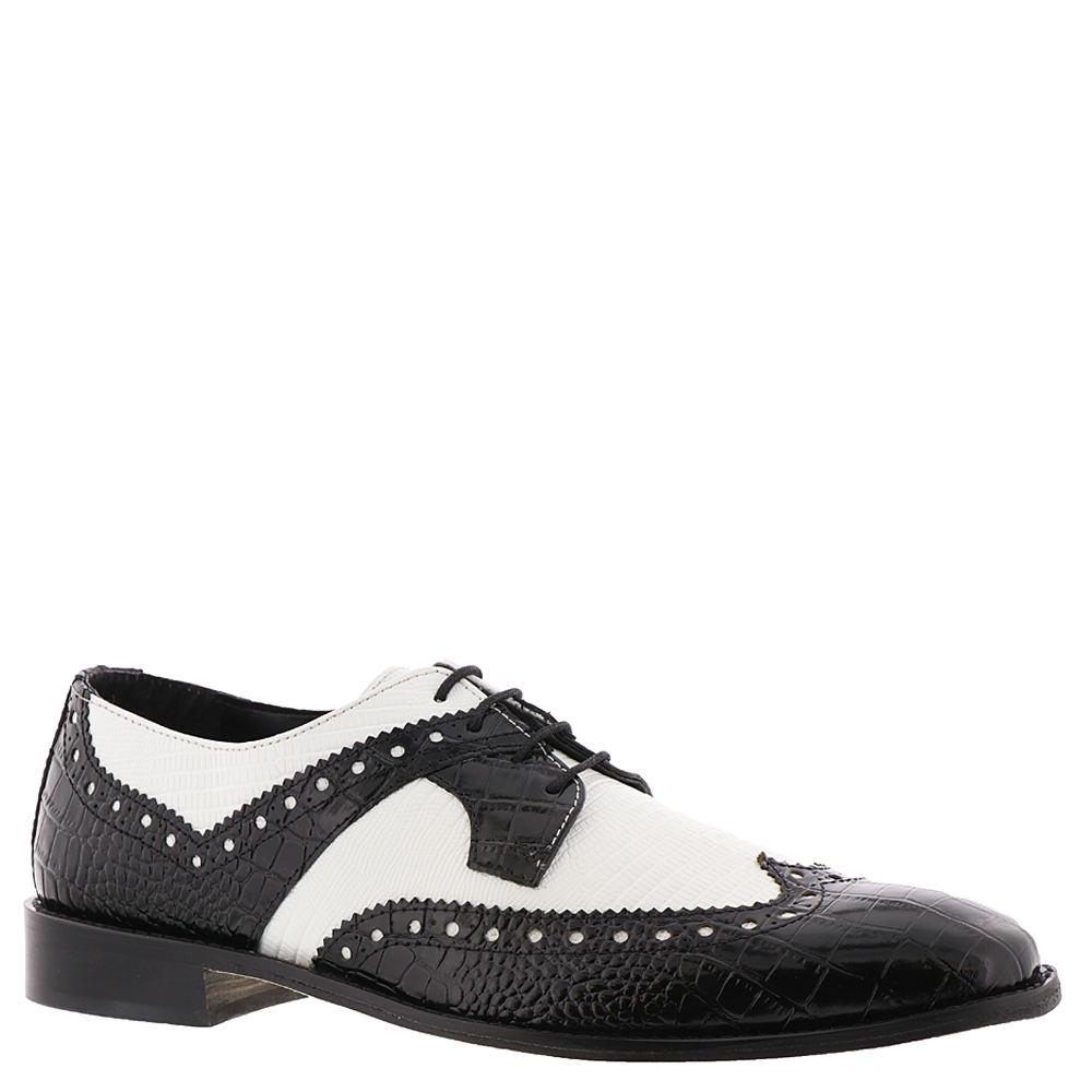 1950s Mens Shoes: Saddle Shoes, Boots, Greaser, Rockabilly Stacy Adams Gusto Mens Black Oxford 7 M $89.95 AT vintagedancer.com