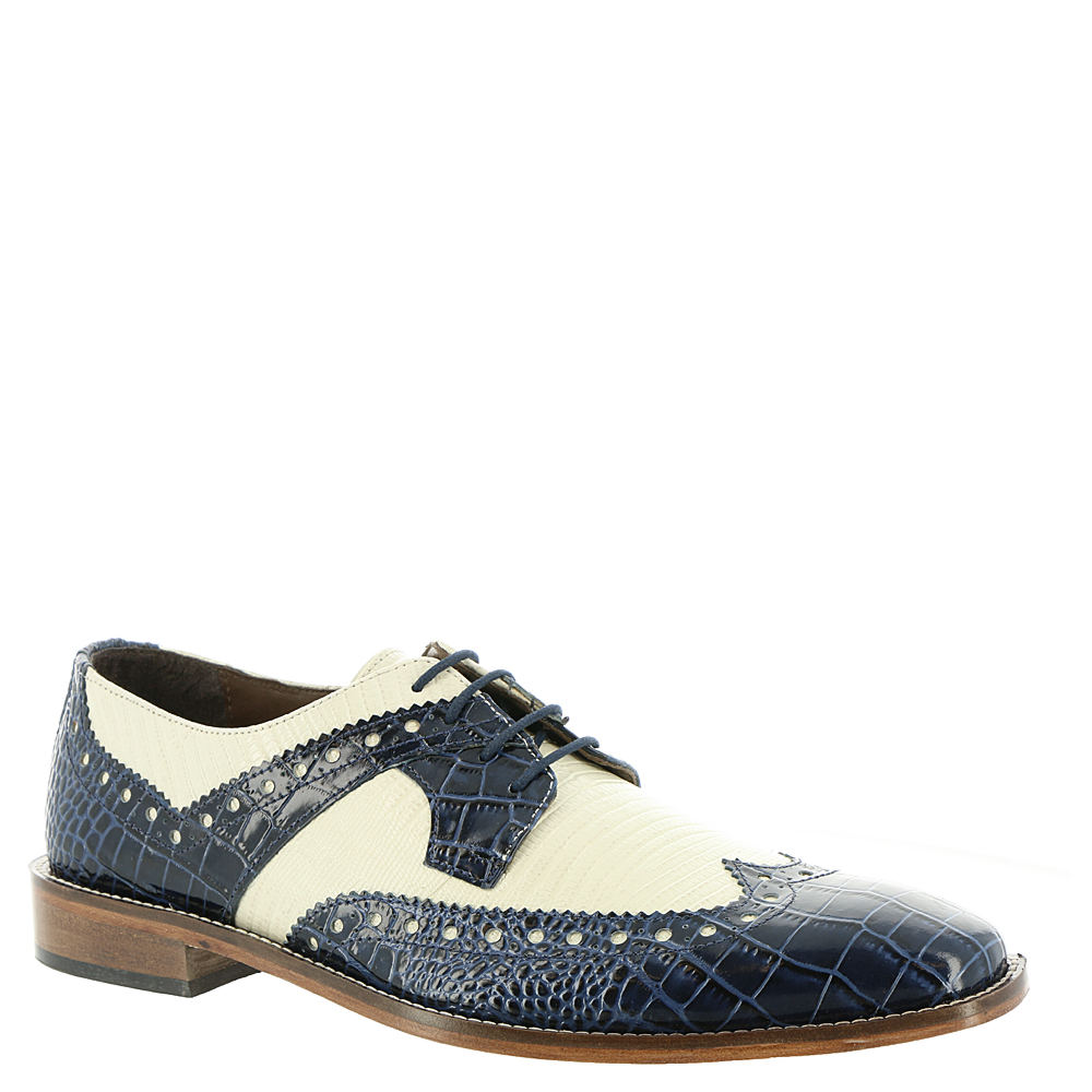 1950s Mens Shoes: Saddle Shoes, Boots, Greaser, Rockabilly Stacy Adams Gusto Mens Blue Oxford 8 M $89.95 AT vintagedancer.com