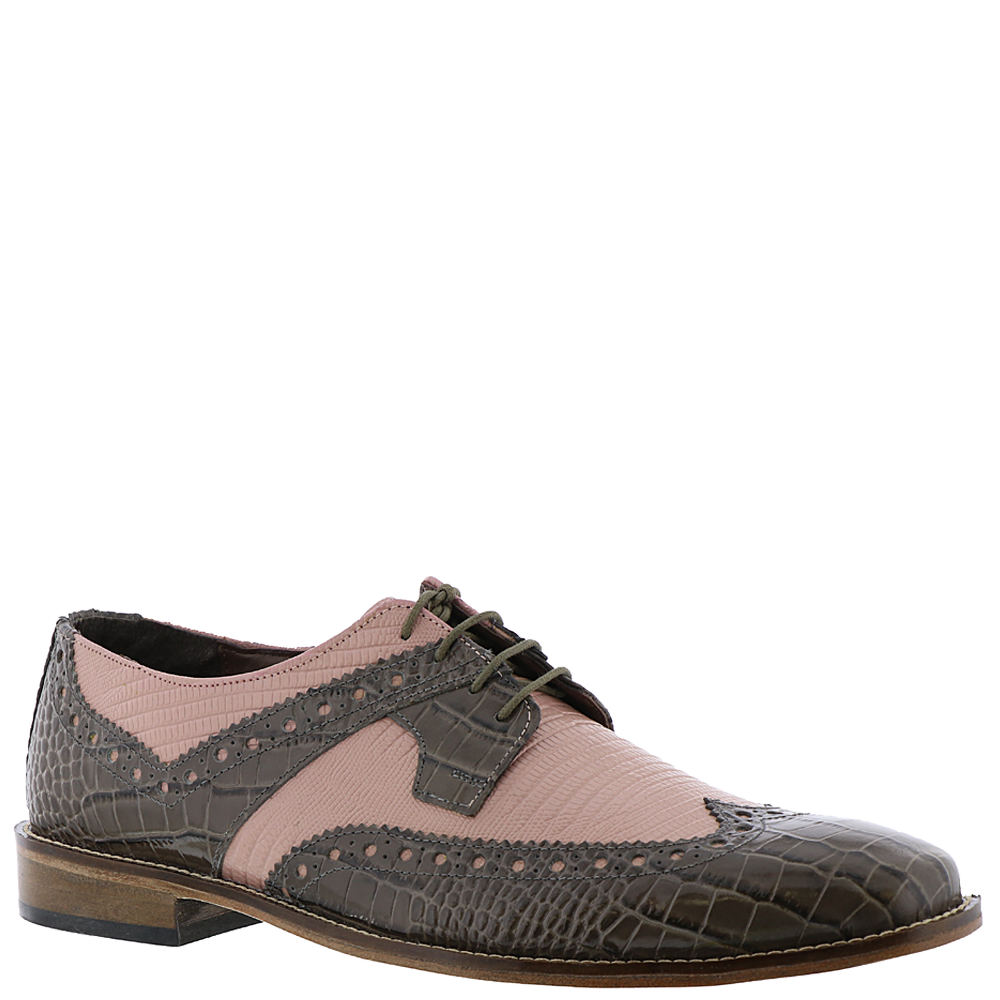 1950s Mens Shoes: Saddle Shoes, Boots, Greaser, Rockabilly Stacy Adams Gusto Mens Grey Oxford 10 M $89.95 AT vintagedancer.com
