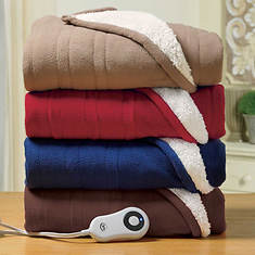 Serta Microfleece and Sherpa Heated Throw