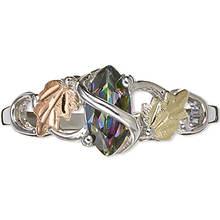 Black Hills Gold Sterling Silver 12K Mystic Fire Topaz Ring