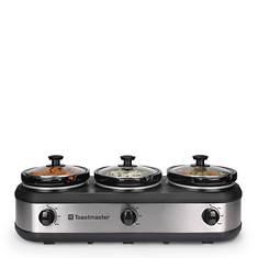 Toastmaster 3-Crock Slow Cooker Server