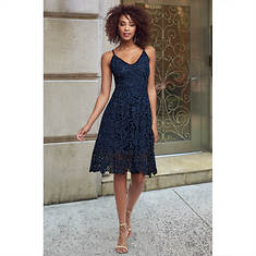 Fit-And-Flare Crocheted Dress