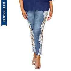 Lace Cutout Jean