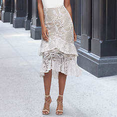 Lace Ruffle Skirt