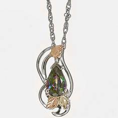 Black Hills Gold Sterling Silver 12K Mystic Fire Necklace