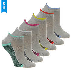 Steve Madden Women's SM36107A 6PK Low Cut Socks