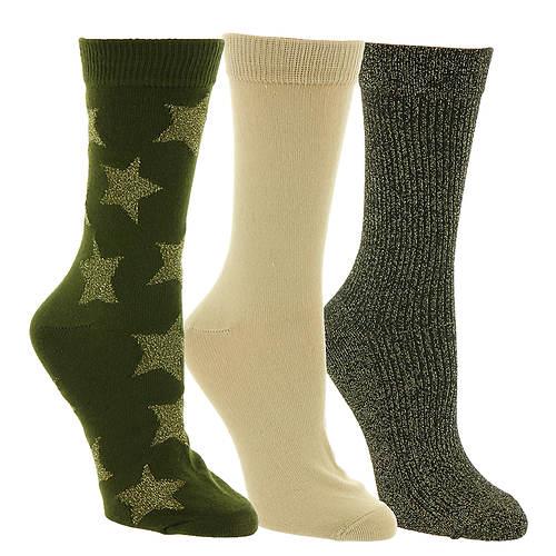 Steve Madden Women's SM38275 3PK Solid Crew Socks