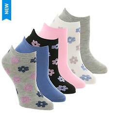 Steve Madden Women's SM36120A 6PK Low Cut Socks