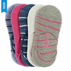 Steve Madden Women's SM32838 5PK Marled Stripe Footies