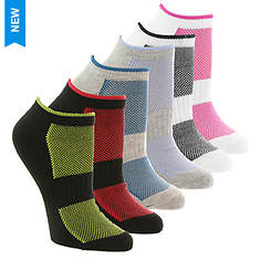 Steve Madden Women's SM36097A 6PK Low Cut Socks
