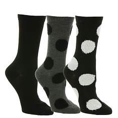 Steve Madden Women's SM38156A 3PK Polka Dot Crew Socks