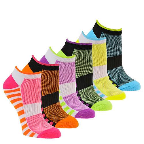 Steve Madden Women's SM36098A 6-Pack Low Cut Socks