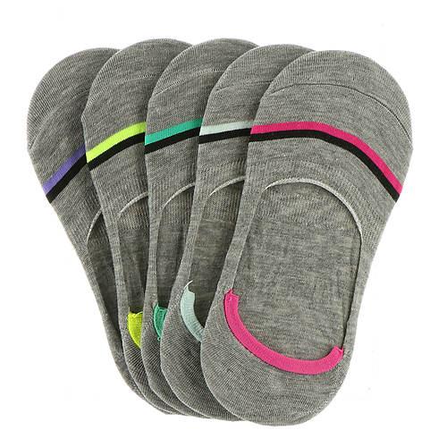 Steve Madden Women's SM34069A 5-Pack Athletic Stripe Footies